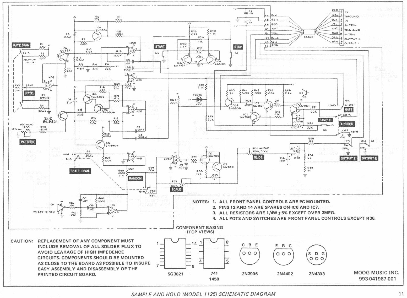music machines  moog  schematics