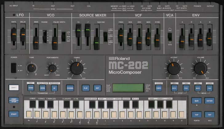MC 202 on patch samples